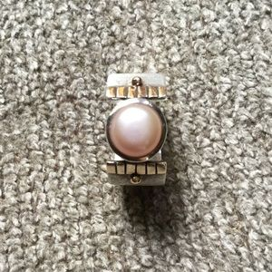 Silpada Sterling Silver and Freshwater Pearl Ring